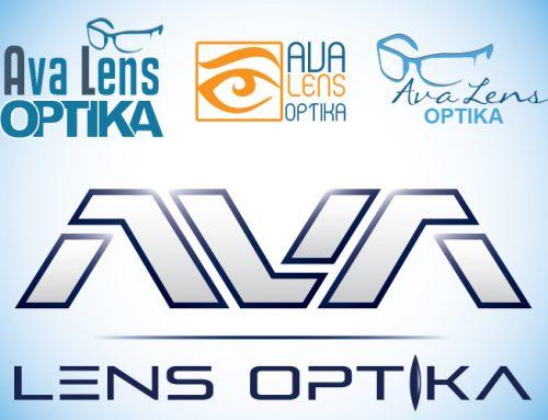 Dizajn logotipa za Ava Lens optiku