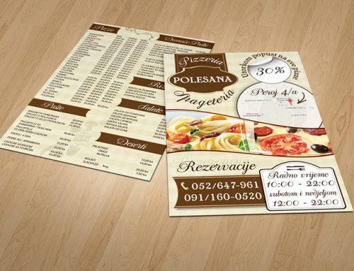 Dizajn letka za Restoran Polesana