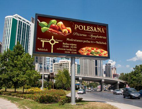 Dizajn jumbp plakata za Pizzeriu Polesana