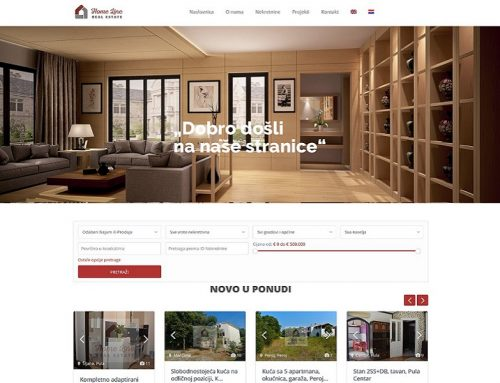 Izrada Web stranice za Home Line – Real Estate