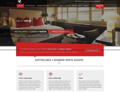 Izrada Web stranice za Hotelske I Sobna mape