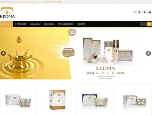 Izrada Web stranice za Kedma Web Shop