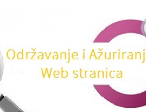 Održavanje i ažuriranje Web stranica 20% popusta